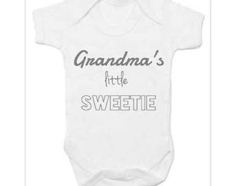 Personalised body suit, slogan vest, Personalised baby vest, funny printed vest, baby clothing, baby shower, grandma's little sweetie