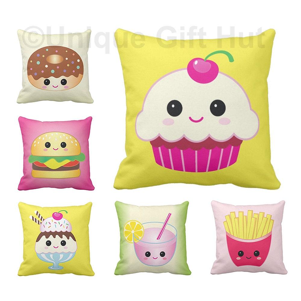 Food Pillows-Cute Throw Pillow series 1-Square Throw Pillow