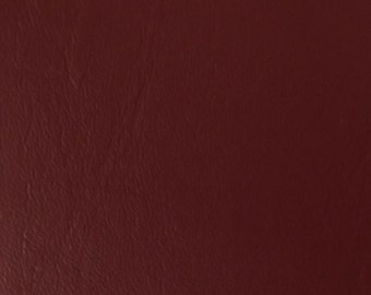 """Burgundy Faux Leather Upholstery Vinyl 54"""" wide By The Yard"""