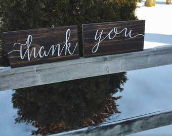Wedding Thank You Signs - Calligraphy Script Style Font