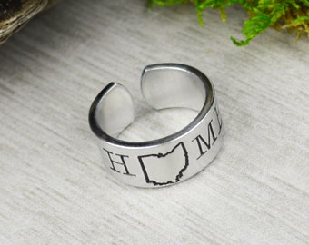 Home State Ring - Personalized Ring - Any State