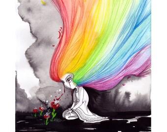 Print - Rainbow for Orlando
