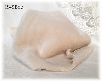 Italian SYNTHETIC fur plush fabric IS-SB02 Light Beige soft dense pile 9 mm 1/8 m teddy bear making supplies