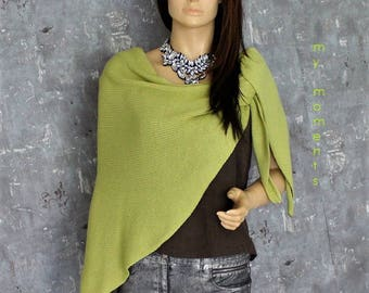 TRIANGLE SCARF Merino lime