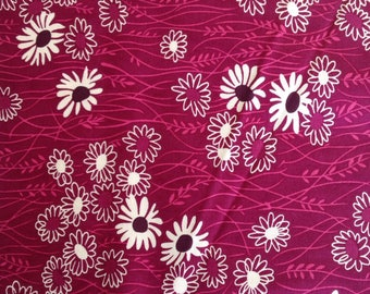 Pink floral fabric quilters cotton. Simply Colorful II by V and Co.
