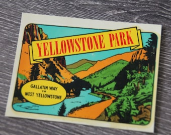 Vintage Yellowstone National Park Water Decal