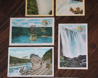Vintage Niagara Falls Linen Postcard Collection