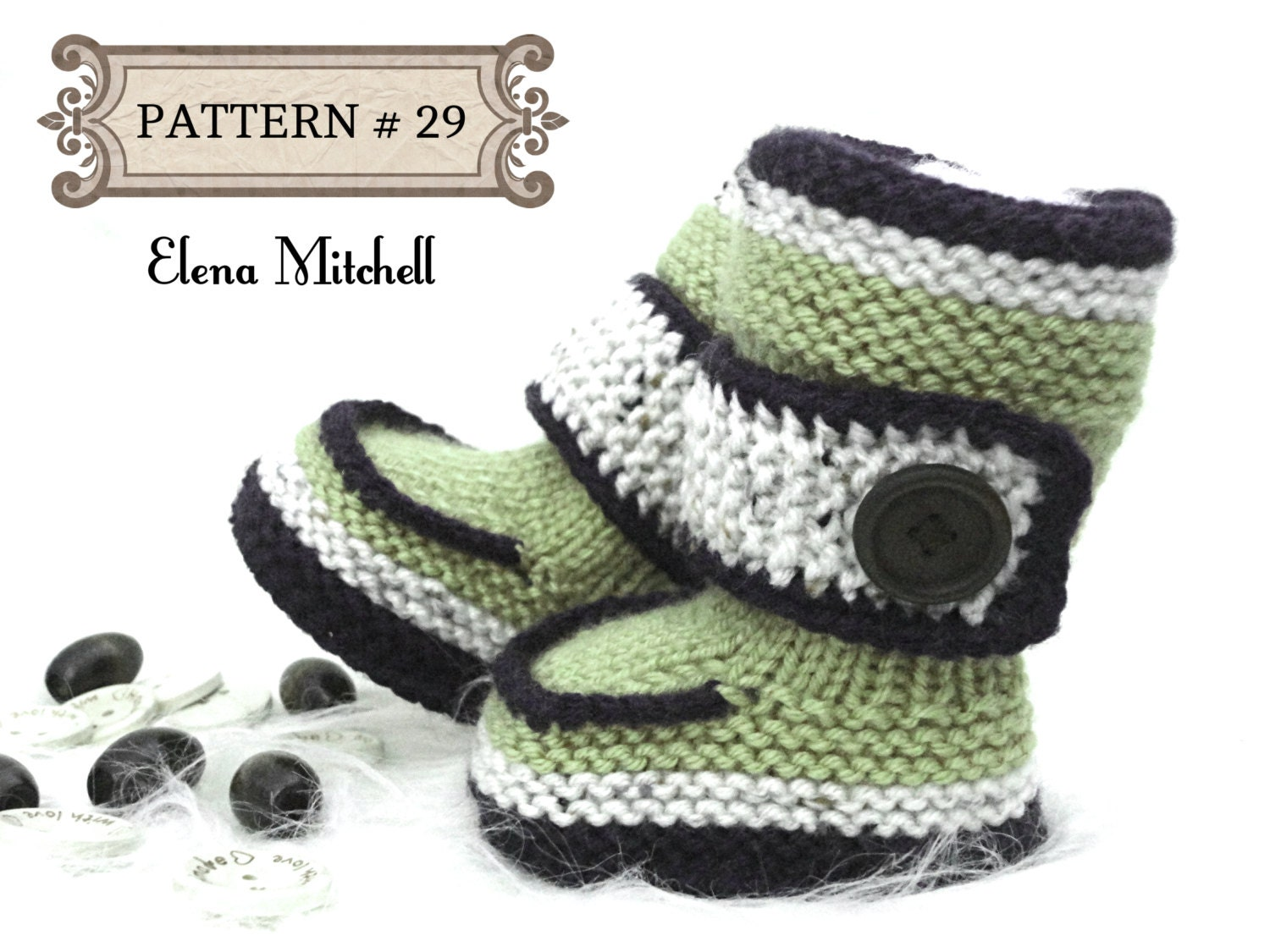 Knitting PATTERN Baby Booties Baby Shoes Knit Pattern Baby