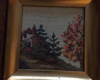 Vintage Needlepoint Minature