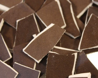 Chocolate Brown Tile Etsy