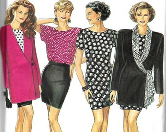 New Look 6975   Misses Sheath Dress, Jackets, Top, Skirt     Size 8-18    Uncut