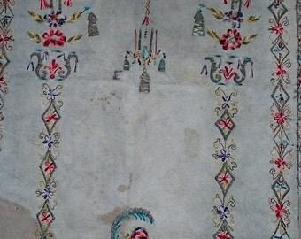 circa 1850 Ottoman wool felt  all hand wowen pray rug