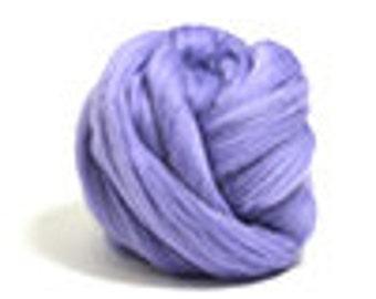 Corriedale Wool Roving /Combed Top/Braid in Hyacinth  - 2 oz