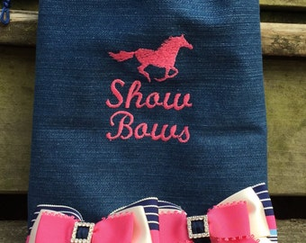 Custom Made Horse Show Bow Bag