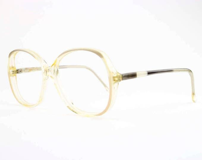 80s Vintage Eyeglasses   Clear Round Oversized Glasses   NOS 1980s Eyeglass Frame   Deadstock Eyewear - Dinah
