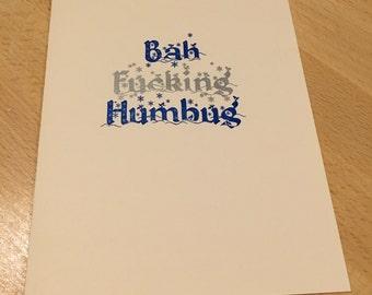 10-pack of Bah Effing Humbug Cards