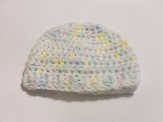 Crochet baby hat, yellow green blue beanie, baby beanie, preemie baby hats, newborn hats, girl beanie, baby shower gifts, crochet beanie