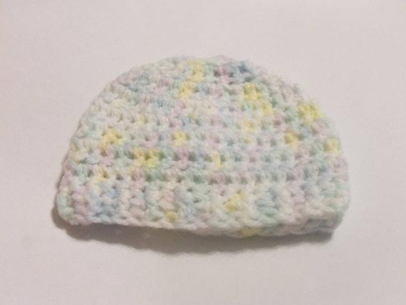 Crochet baby hat, yellow green blue beanie, baby beanie, preemie baby hats, newborn hats, girl beanie, baby shower gifts, crochet beanie