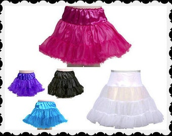Girls tulle petticoat tu tu pick a color fun ruffles 4 5 6 7 8 9 10 12 14