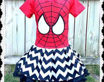 girls spiderman dress 4/5 6/6X 7/8 10/12 14/16 ready to ship