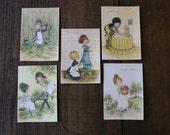 Child Birthday Holly Hobbie Card Unused Cute Greeting Card Ephemera with Envelope Children Illustration PRICE PER CARD
