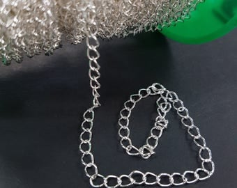 3.5mm Silver Large Link Chain 160SB