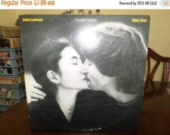 Save 30% Today Vintage 1981 Vinyl LP Record Double Fantasy John Lennon Yoko Ono Very Good Condition Geffen Records 6722