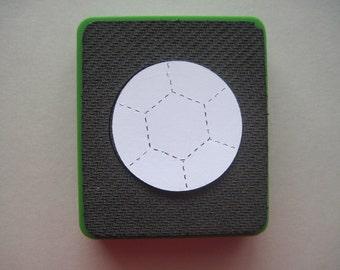 Sizzix original die -- SOCCER BALL -- Green die. Gently used.