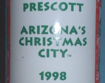 "Prescott, Arizona ""Arizona's Christmas City"" 1998 coffee mug"