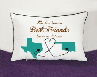 Moving gift etsy best friend bedding pillow case bff moving gift long distance going away gift negle Images