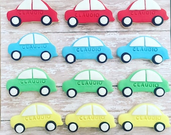 12 car sugar cookies