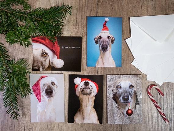 Satz von zehn Weihnachtskarten (5 Motive)
