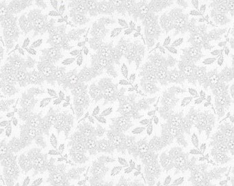 Whisper Prints 3 Grey Sprig - 1/2yd