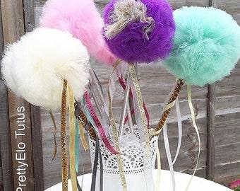 Tulle wands,magical wands,wedding decorations,flower girl wands,princess wands,U.K.