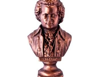 Bronze Mozart Bust - Classical Music Composer