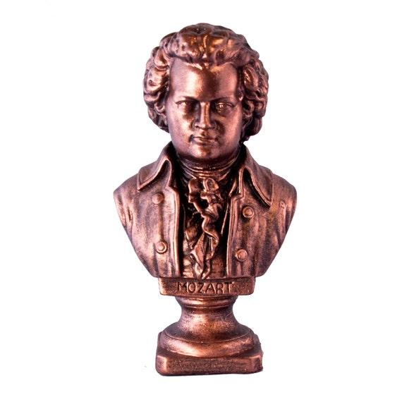 Bronze le buste de Mozart compositeur de musique classique