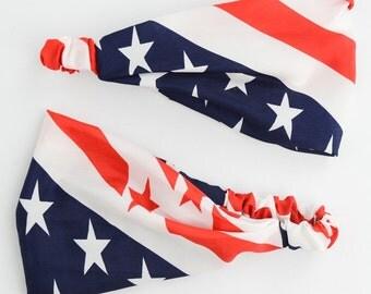 American flag headband /, USA Headband, America Headband, USA, 4th of July, red white and blue,American Flag Hairband, US HeadBand,