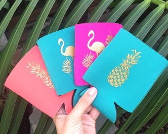 Bachelorette Party Favors | Pineapples | Beach Bachelorette | 21st Birthday Party | Pineapple Favor, Can Cooler, Tropical Bachelorette Party