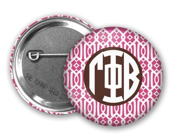 "Gamma Phi Beta Button 2.25"", 1.5"" or 1"" - Single or Bulk (BD034)"
