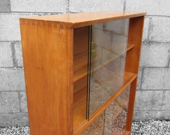 Mid Century Glazed Cabinet cupboard Book Shelf Display