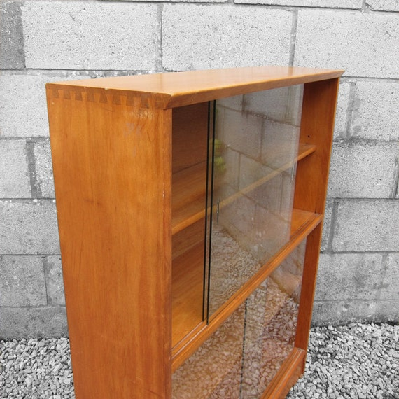 Mid Century Glazed Cabinet cupboard Book Shelf Display