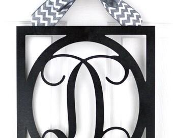 Monogram Door Decor - Monogram wreath - Everyday wreath - Year Round wreath - Wedding gift - Mothers Day gift - Vine monogram