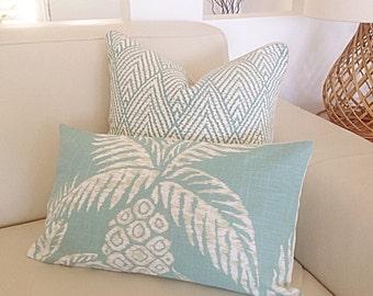 Cushions Pillows Beach House Decor Pina Pineapple, Cushion Cover, Aqua Tropical Scatter Cushion Scatter Pillow Covers