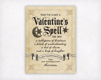 Schön Personalized Printable Kids Valentine Cards, Wizard Valentines Day Cards,  Boys Valentine Cards, Harry
