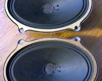 """vintage 5"""" x 7"""" oval speakers"""