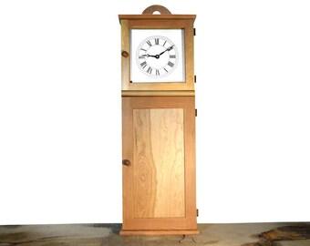 Shaker Hanging Clock,  Quartz Movement, Handmade Clock