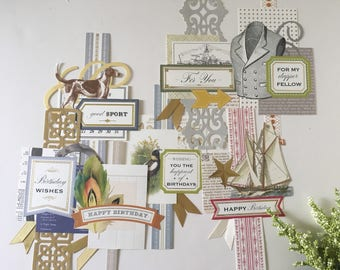 For Him Collage Toppers by Anna Griffin FH5