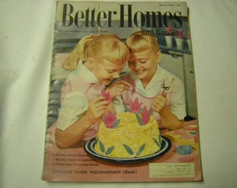 1958 Better Homes and gardens-vintage magazine-decor-cooking-garden ideas-210 pages-memories-retro-collection-