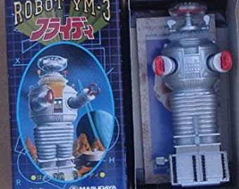 Robby The Robot Forbidden Plant 1990s YM-3 Robot From Japan Re-issue Box #T-304