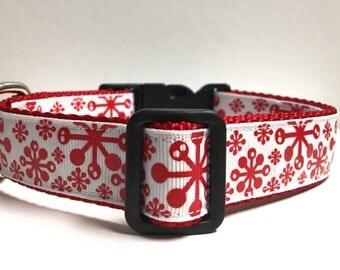 Retro snowflakes collar